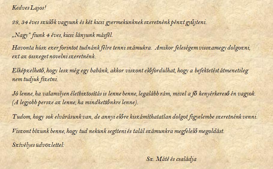 Család levele (nagyításért kattints a képre)